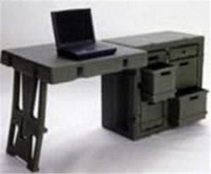 472-ADMIN-DESK-S  Field Desk w/ Chair & Office Supplies