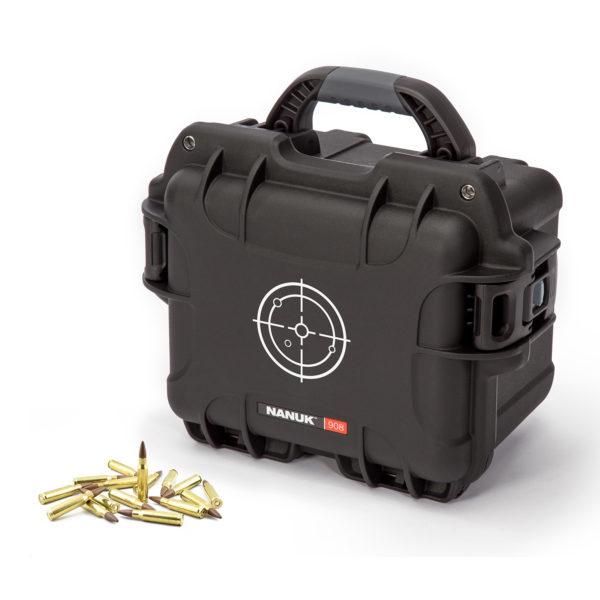 """908 Watertight Ammo Case, ID: 9.5 L × 7.5 W × 7.5"""" D"""