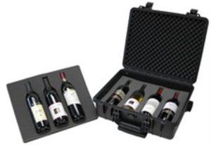 WCB-018T-B Wine Case w/T-Handle & Wheels.